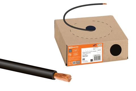 Провод ПуГВ 1х1,5 ГОСТ в коробке (100м), черный TDM