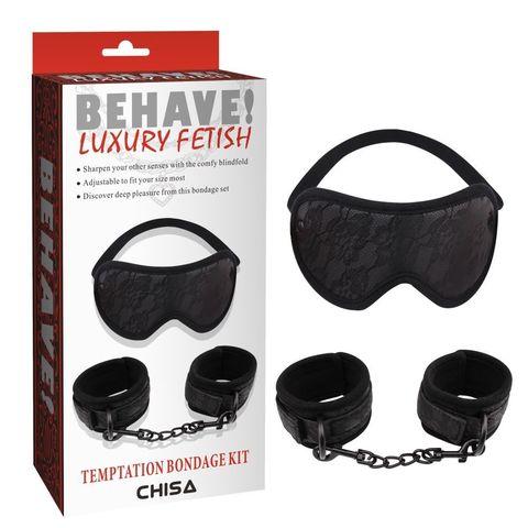 Черный эротический набор Temptation Bondage Kit