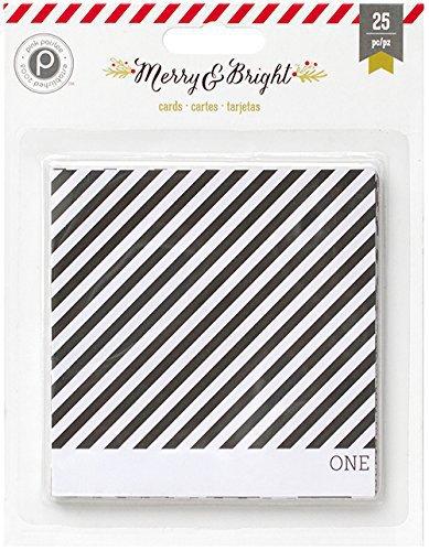 Журнальные карточки 10х10 см  Merry& Bright by PinkPaislee 25шт