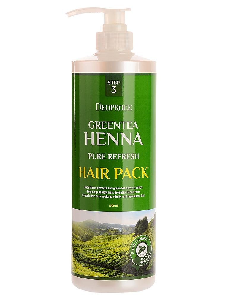 Волосы Маска для волос с зеленым чаем и хной GREENTEA HENNA PURE REFRESH HAIR PACK i26181_1484744020_5.jpg