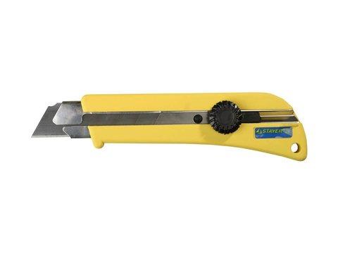 Нож с винтовым фиксатором SK-25, сегмент. лезвия 25 мм, усиленный корпус, STAYER