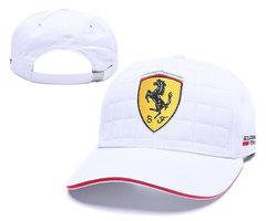 Кепка с вышитым логотипом Феррари (Кепка Ferrari) белая 02