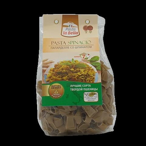Папарделле со шпинатом PASTA LA BELLA BADY ГУРМАЙОР, 250 гр