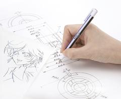 Ластик-ручка Tombow MONO Zero Eraser, круглый, наконечник бело-сине-черный, диаметр 2,3 мм