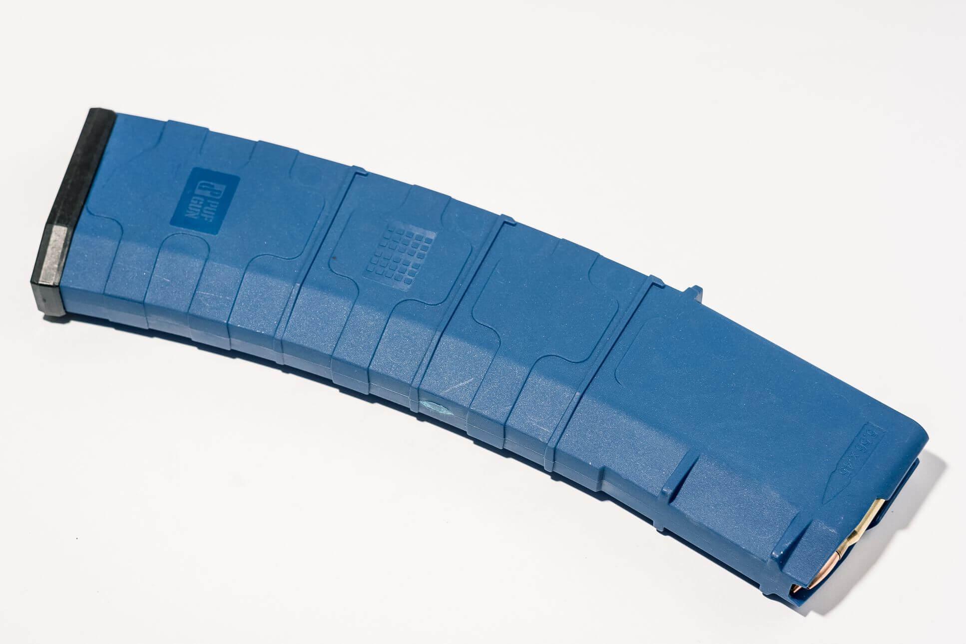 Магазин Pufgun для AR-15 на 45 патронов, синий