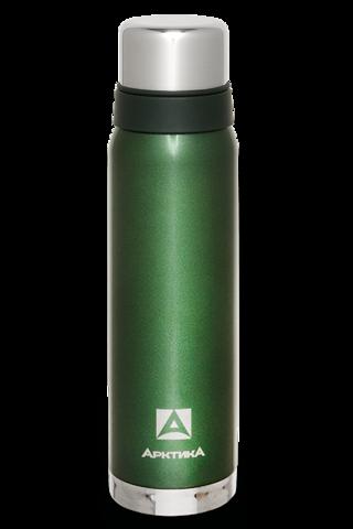 Термос Арктика (106-900 зелёный) 0,9 литра с узким горлом американский дизайн, зелёный