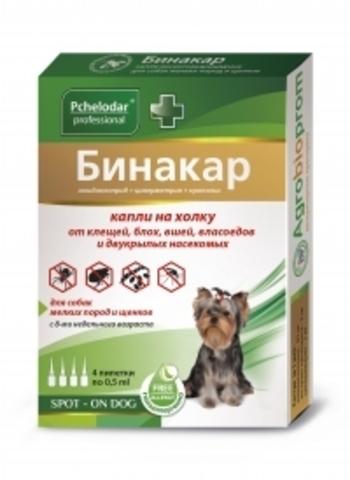 Бинакар капли инсектоакарицидные для мелких собак