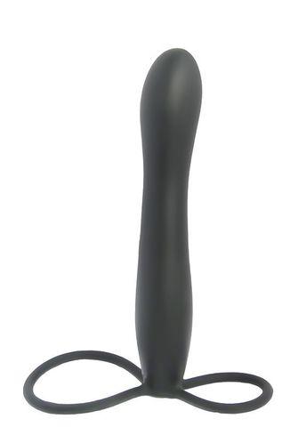 Насадка на пенис Seven Creations Mojo BlackJack с двойной стимуляцией, 15 см