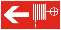 F30 Знак пожарной безопасности «Пожарный кран налево»