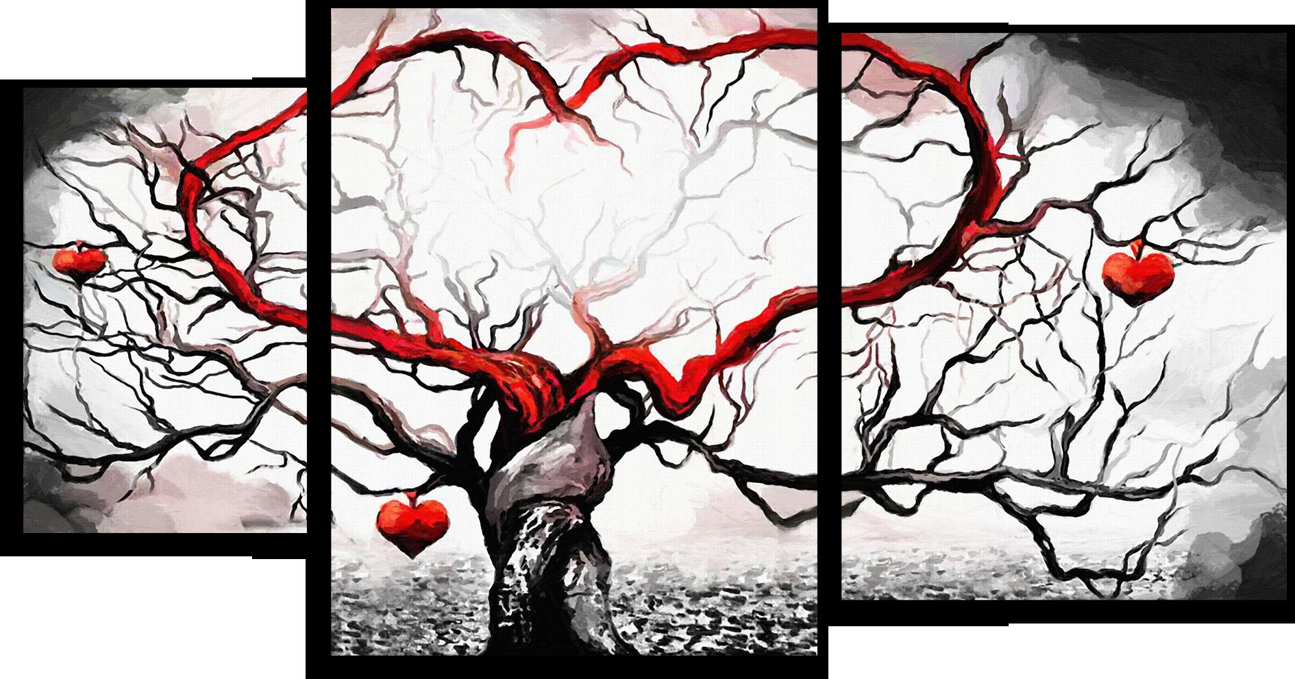 """Модульные картины Модульная картина """"Любовное дерево"""" М54.png"""