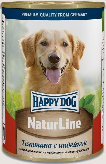 Влажные корма Консервы для собак Happy Dog NaturLine, телятина с индейкой teljatina_s_indeikoi.jpg