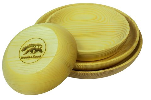 Комплект деревянных тарелок WOOD&GOOD