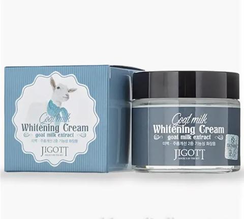 Осветляющий крем для лица с экстрактом козьего молока Jigott Goat Milk Whitening Cream