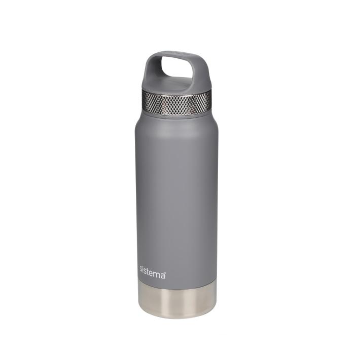 """Термобутылка Sistema """"Hydrate"""" 650 мл, цвет Серый"""