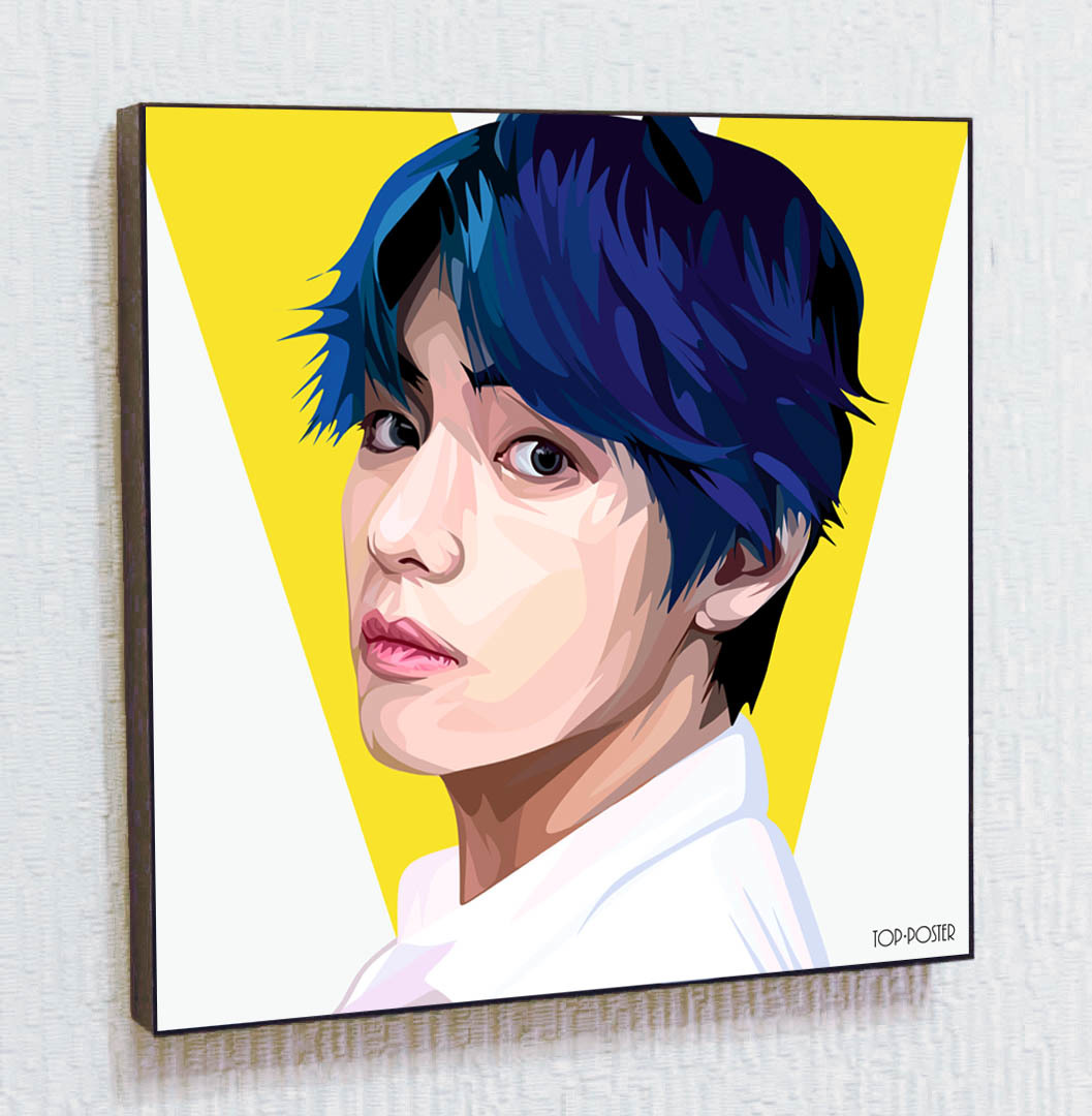 Ким Тхэхён V BTS Картина ПОП-АРТ постер kpop