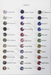 Палитра цветов пришивных страз качества Premium