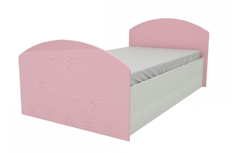 Кровать Юниор-2 розовый металлик