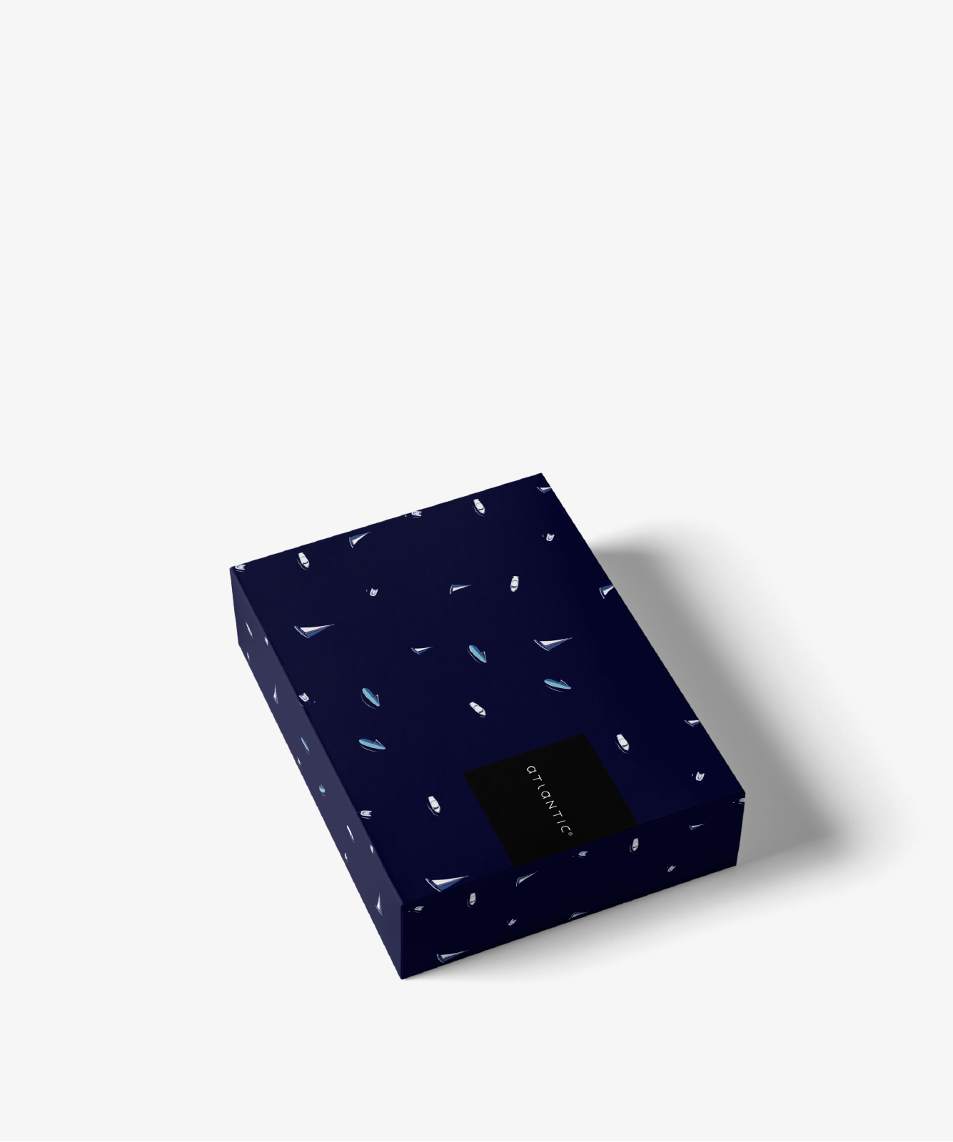 Мужские трусы шорты Atlantic, набор из 2 шт., хлопок, светло-голубой меланж + темно-синие, 2GMH-002
