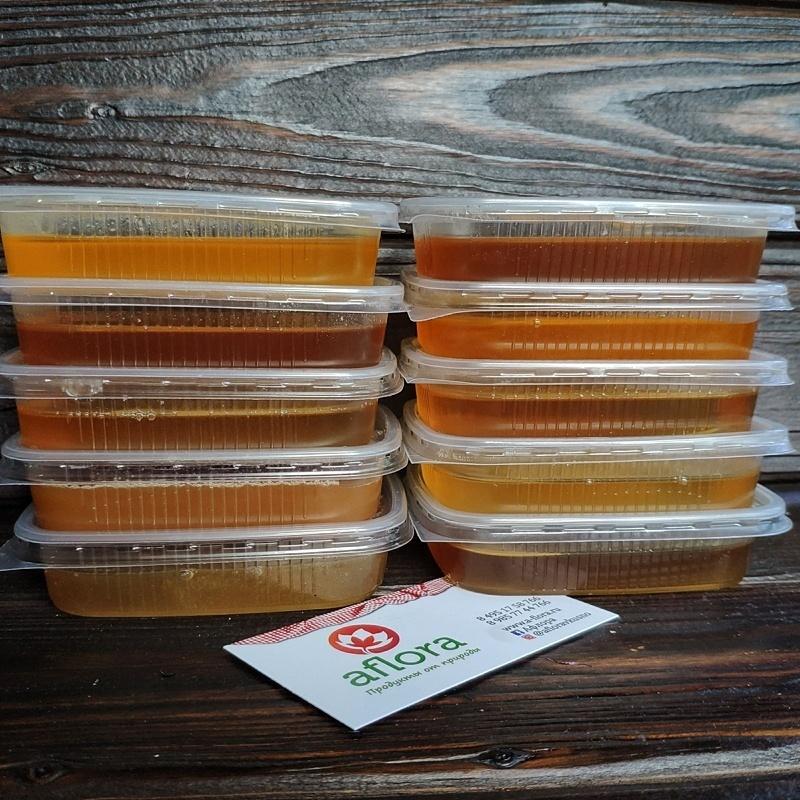 Фотография Пробник меда Расторопша с чабрецом / 100 гр купить в магазине Афлора
