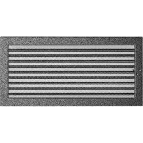 Вентиляционная решетка Черная/Серебро с задвижкой (22*45) 22/45CSX