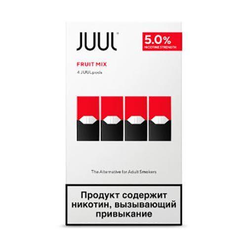 Сменный Картридж для JUUL. ДЖУЛ Фруктовый микс х4, 0,7 мл 50 мг