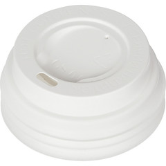 Крышка для стакана Формация 62 мм пластиковая белая 100 штук в упаковке