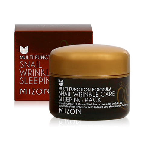 Mizon Маска ночная с экстрактом улитки Snail Wrinkle Care Sleeping Pack 80 мл.