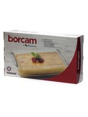 Прямоугольная форма для запекания из жаропрочного стекла 1,3 литра Borcam 59864 26х15х5,5 см коробка