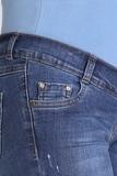 Джинсы для беременных 08365 синий