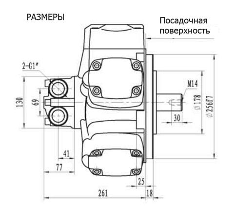 Гидромотор IPM6-1500