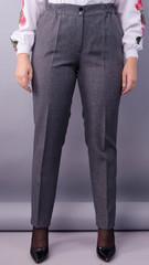 Елія льон. Жіночі батальні брюки в класичному стилі. Сірий.