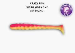 Силикон CRAZY FISH VIBRO WORM 3.4