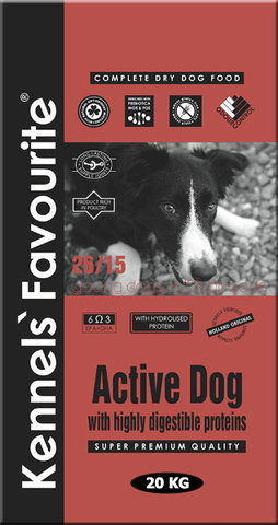 Kennels` Favourite Active Dog Для молодых собак 20 кг.