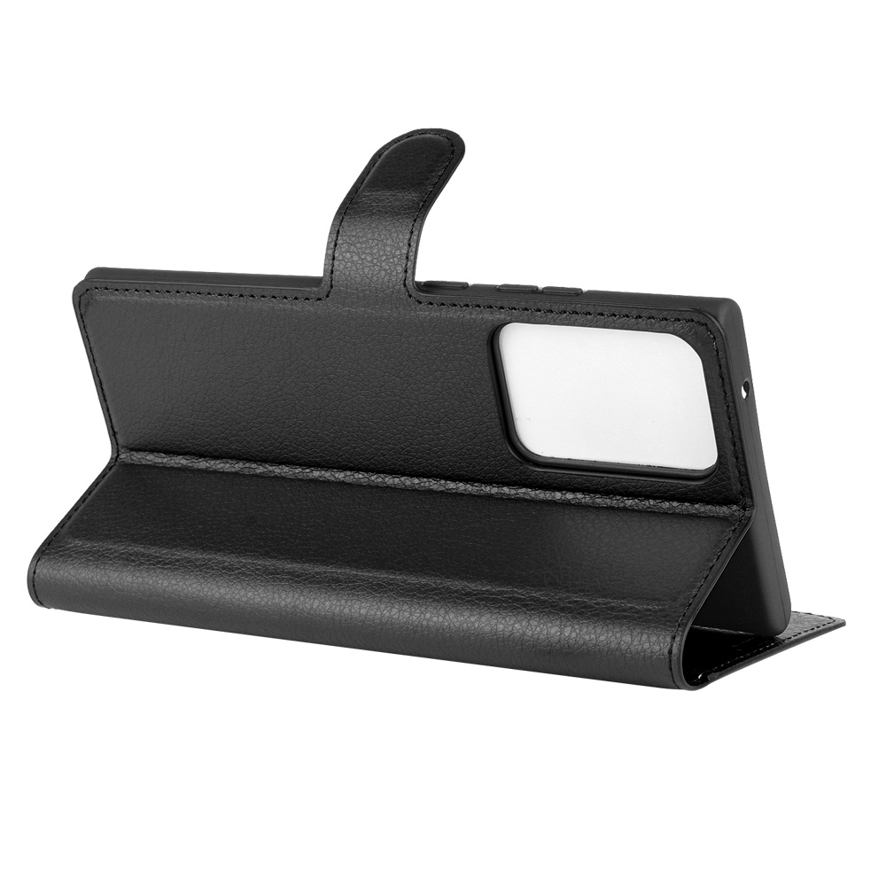 Чехол книжка черного цвета для Samsung Galaxy Note 20 Ultra, с отсеком для карт и подставкой от Caseport