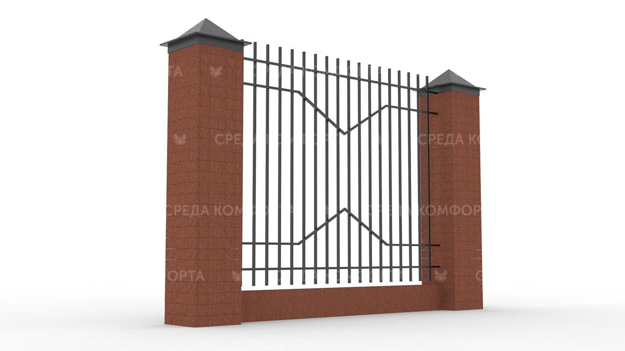 Забор из профильной трубы ZBR0152