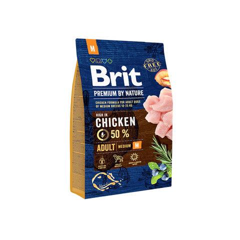 Сухой корм Brit Premium by Nature Adult M для взрослых собак средних пород (10-25 кг)