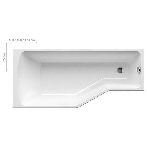 Ванна акриловая Ravak Be Happy 150x75 P C151000000