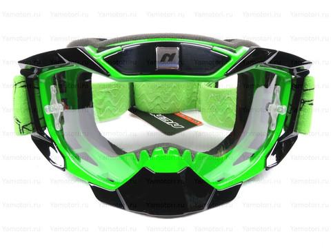 Кроссовые мото очки NENKI, зелёные