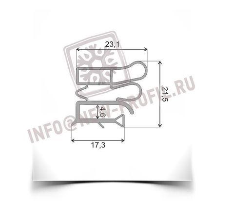 Уплотнитель 74*56 см для холодильника  Pozis (Позис) Мир 164 (морозильная камера) Профиль 012