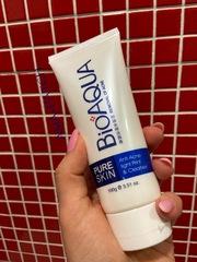 Пенка для очищения проблемной кожи лица и борьбы с воспалениями Bioaqua Pure Skin Anti Acne-light Print & Cleanser, 100 мл