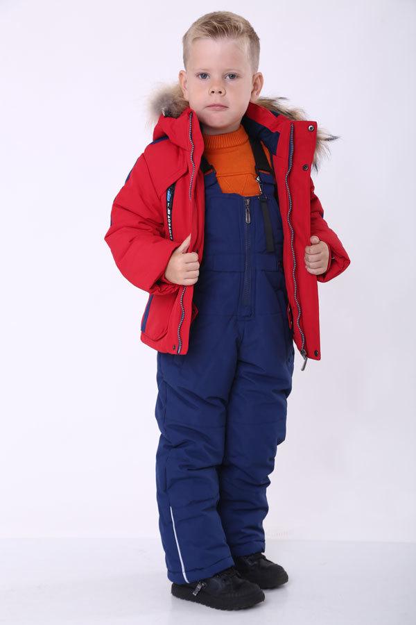 Комплект зимний с полукомбинезоном для мальчика Minika, 908
