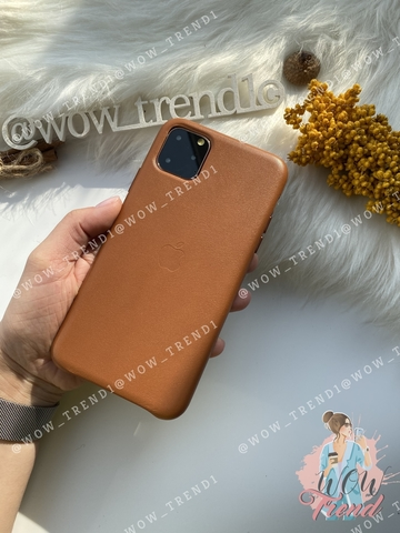 Чехол iPhone 11 good Leather Case /saddle brown/