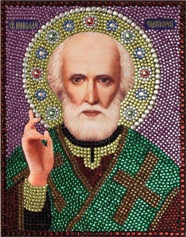 Алмазная Мозаика 28x22 Святой Николай Чудотворец (арт. MN20171)