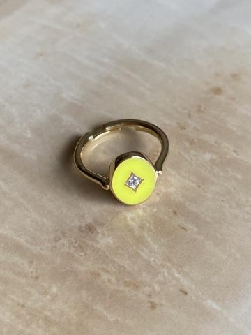 Кольцо Аврора желтое, позолоченное серебро