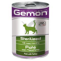 Консервы для стерилизованных кошек Gemon Cat Sterilised паштет индейка