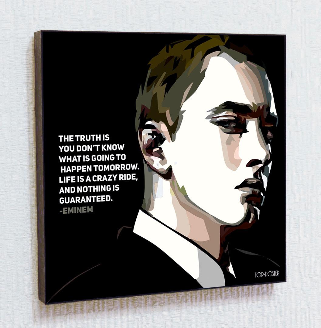 Эминем Картина ПОП-АРТ портрет постер