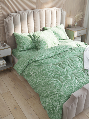 Простынь на резинке  -Джунгли- натяжная 160х200х26 см 2-спальная
