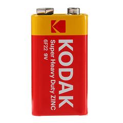 Батарейки Kodak 6F22, 9V крона (1/10)