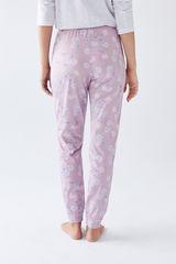Рожеві довгі штани з бавовни