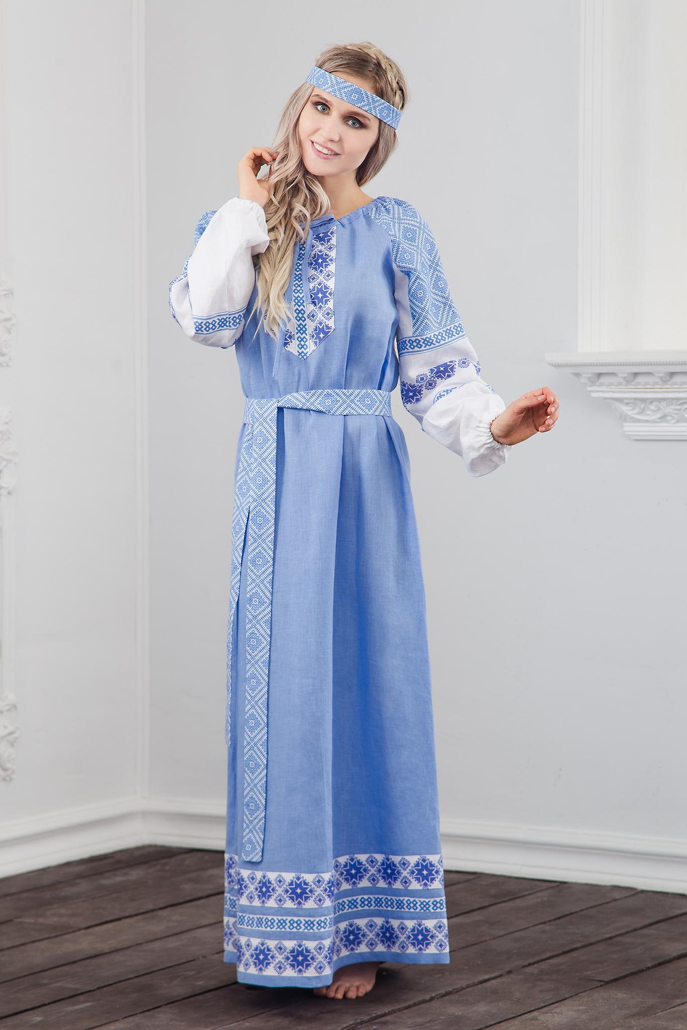 Платье Репейник счастья полный рост